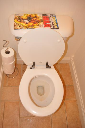 how to clean the little holes in the toilet