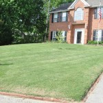 Diagonal cut lawn