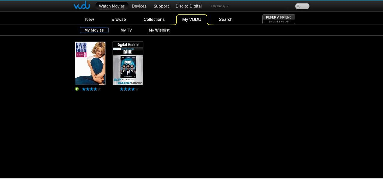 My movies on Vudu