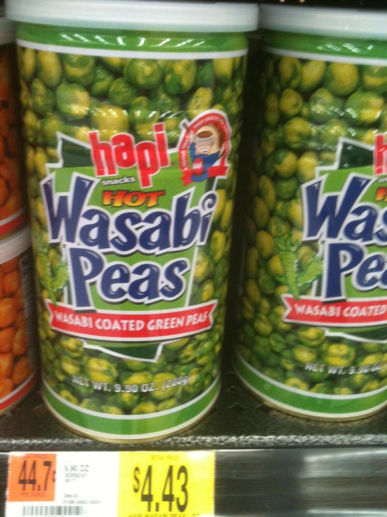 Wasabi peas, an awesome hot snack