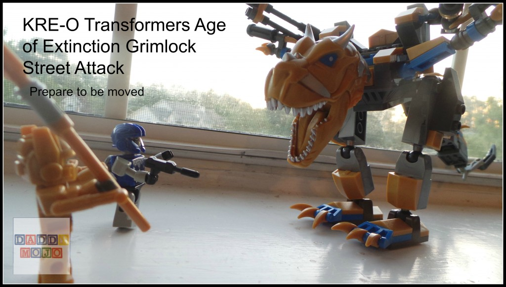 Grimlock is about to get real in KRE-O Transformers  Age of Extinction set