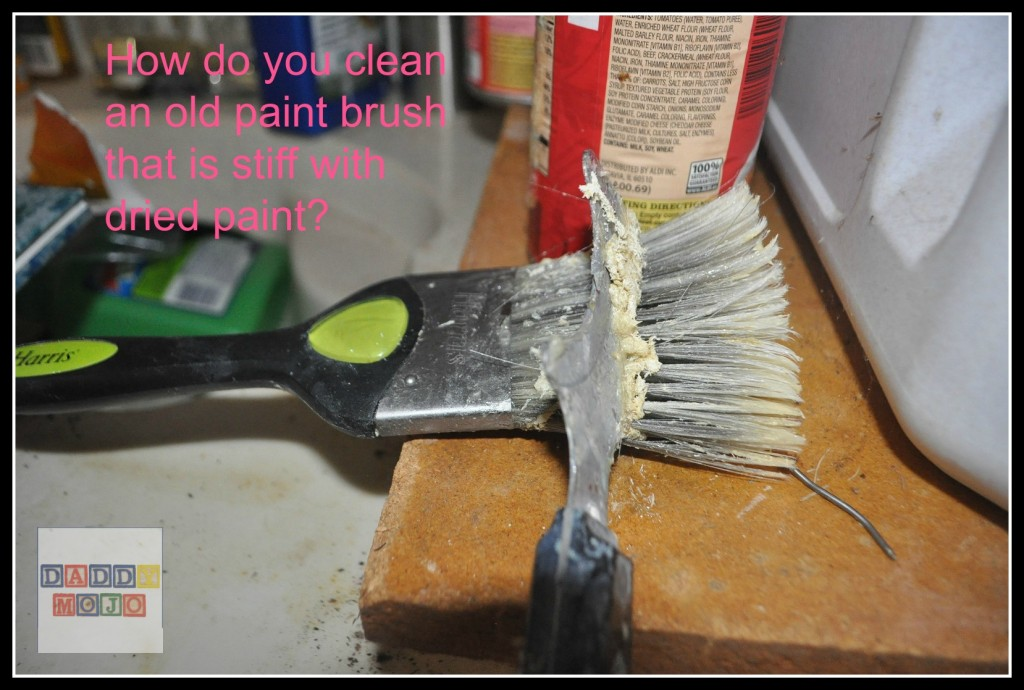 How do you clean an old paint brush that is stiff with dried paint