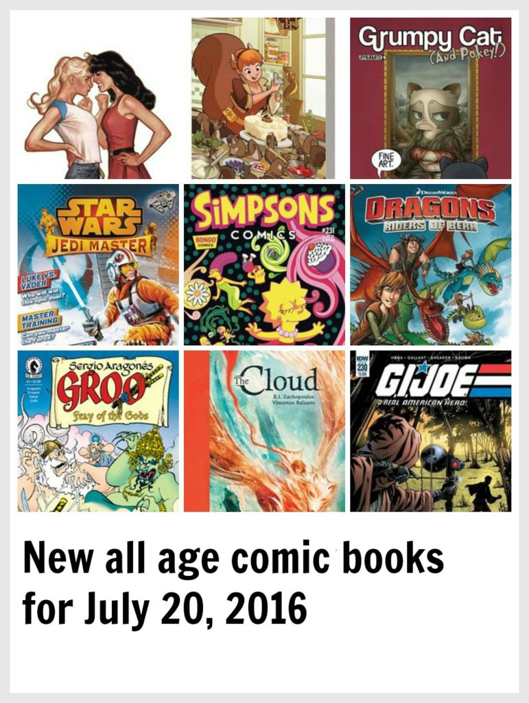 New all age comic books for July 20, 2016
