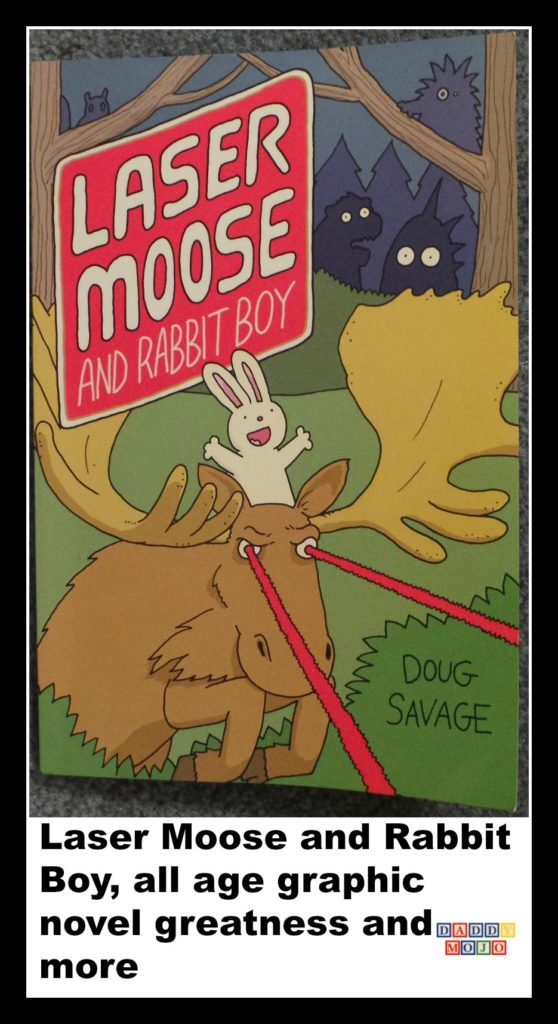 Laser Moose and Rabbit Boy, graphic novel, young reader, doug savage