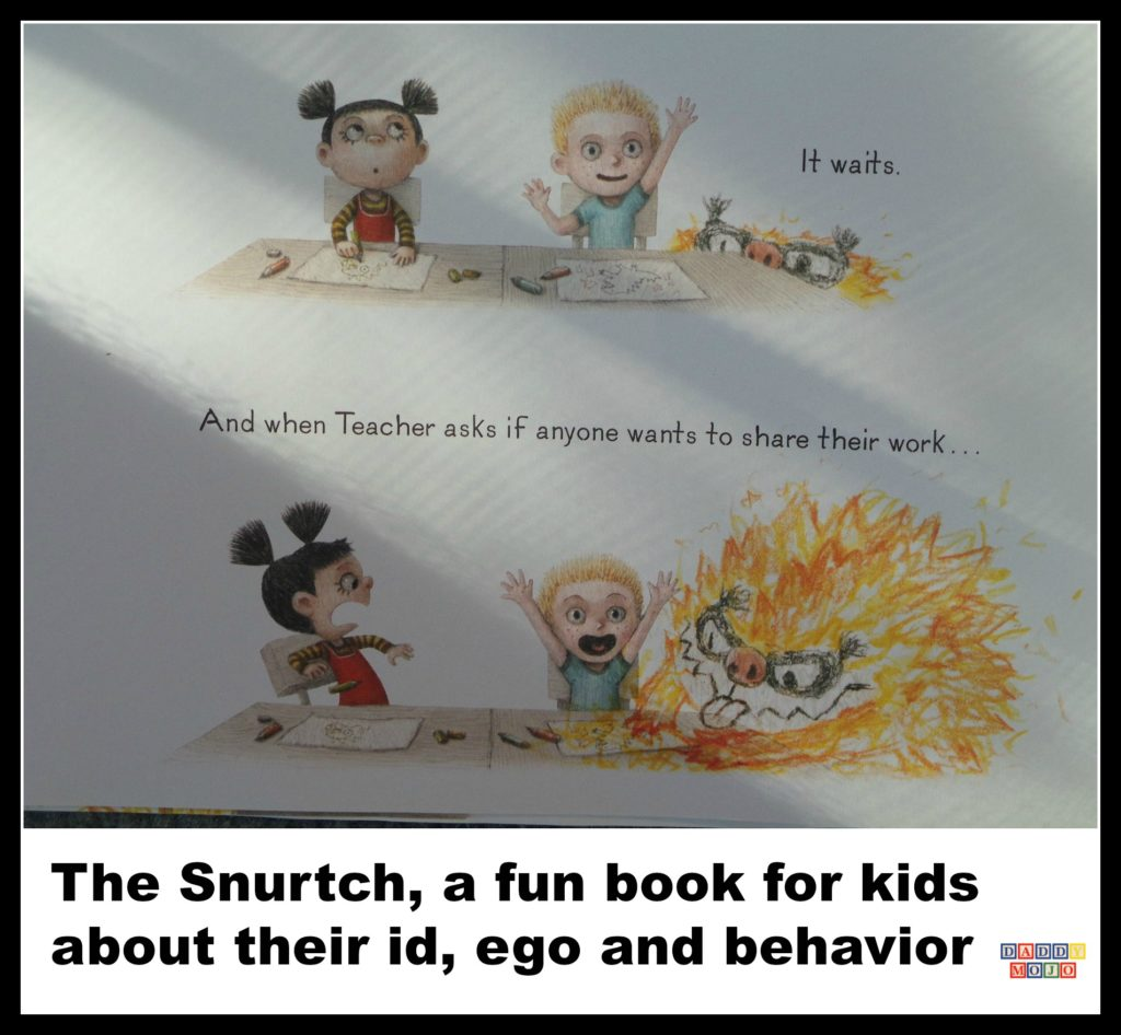 The snurtch, book, kids, children, imaginary character,