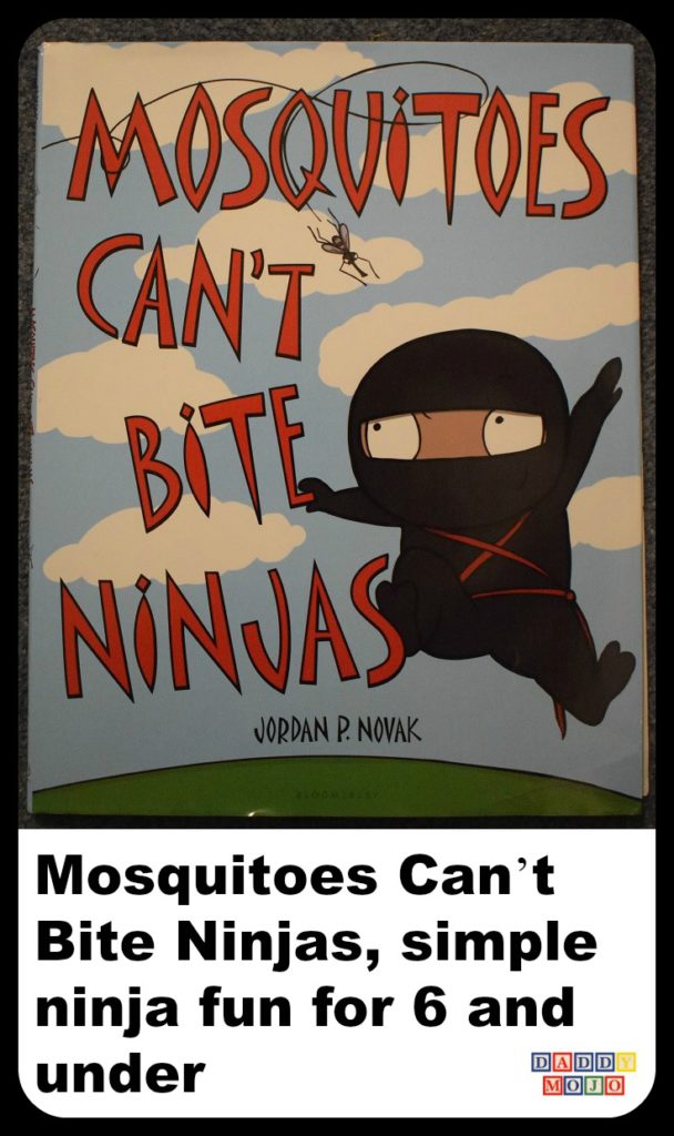 Jordan p. novak, young reader, mosquitoes can't bite ninjas, children's book, books, ninjas, children's picture book