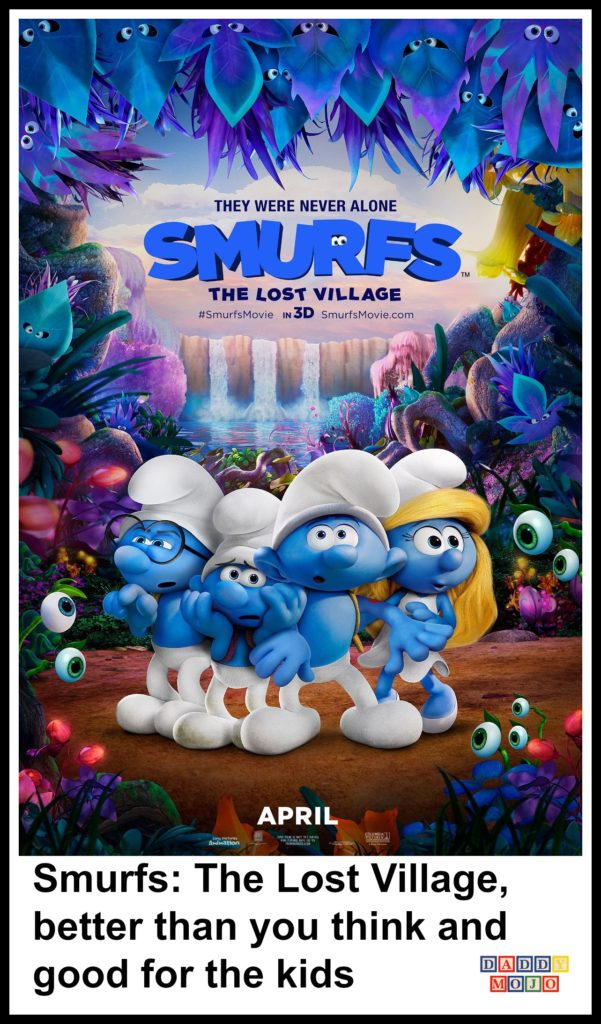 Smurfs the lost village, smurfs, family entertainment. Kids, animation, smurfette