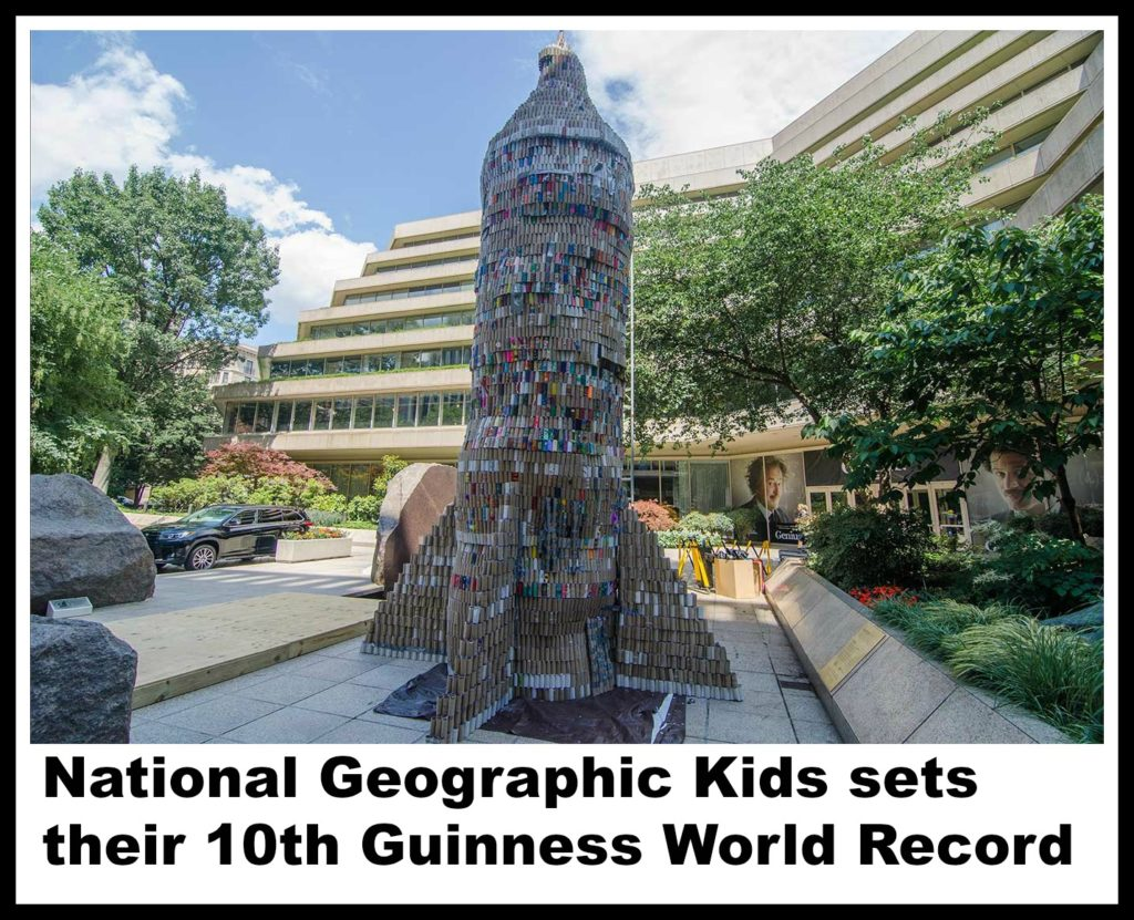 Photo credit: Hilary Andrews National geographic kids, Guinness world record, toilet paper rolls, worlds largest toilet paper roll sculpture, jimmy coggins