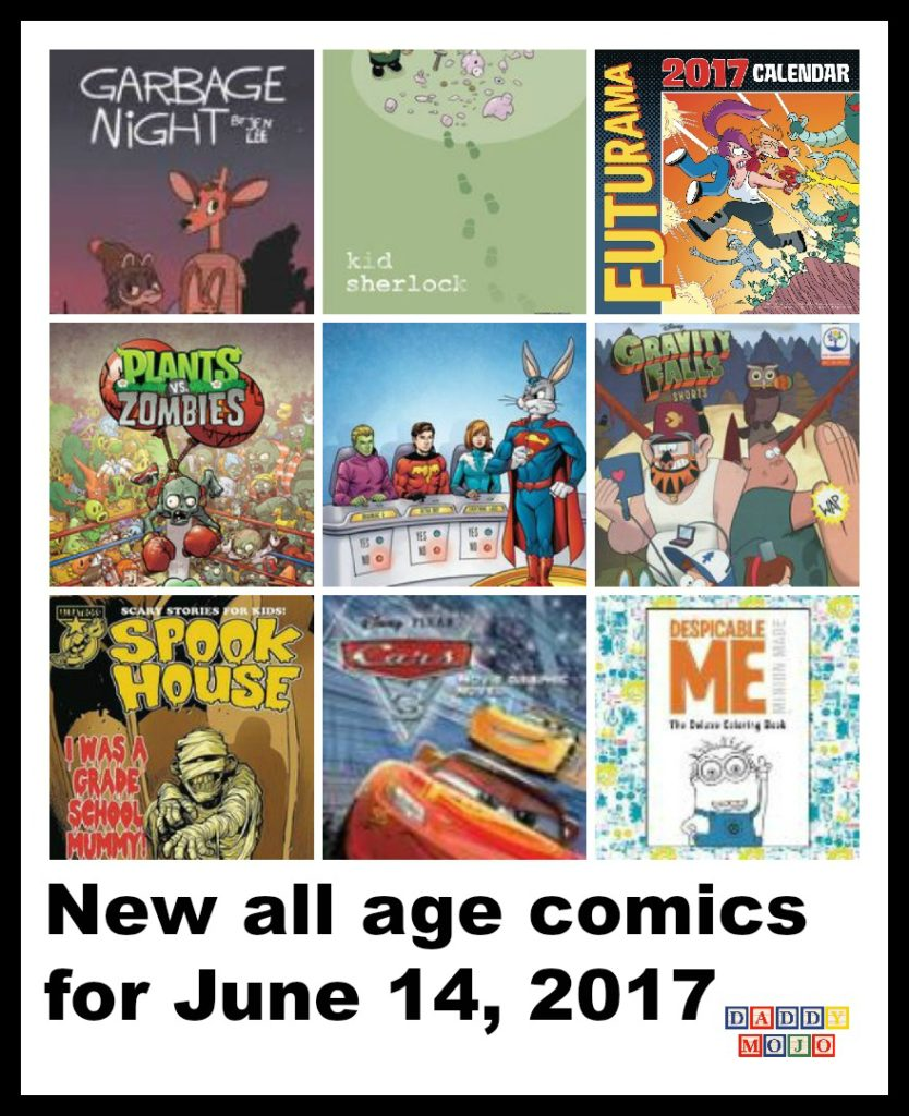 Legion of Super Heroes, Legion of Super Heroes Bugs Bunny, bugs bunny, cars 3, graphic novel, cars 3 graphic novel, kid Sherlock, Sherlock, Watson, elementary school, Plants vs. Zombies, paul tobin, zomboss, crazy dave, star wars, all age comics, comic books, star wars color by numbers