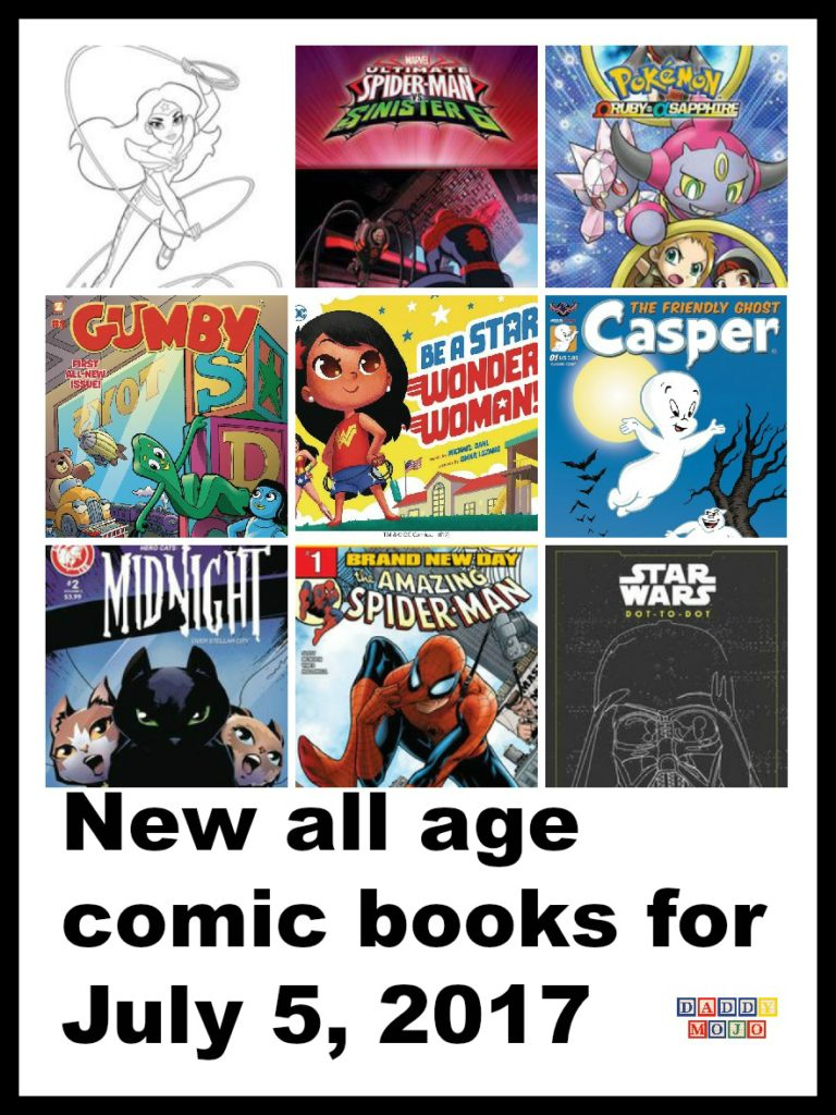 The new all age comic books this week are super. Lots of superheroes, DC Super Hero Girls, Spider Man, plus Gumby, Star Wars and more.