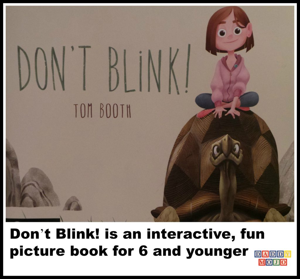 Don't blink, tom booth, childrens book, picture book