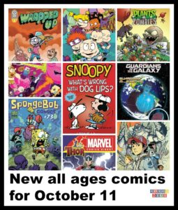 Thor, Mech Cadet Yu, Regular Show, Scooby Doo, Marvel comics, Snoopy, all ages comics, all age comics, comic books,