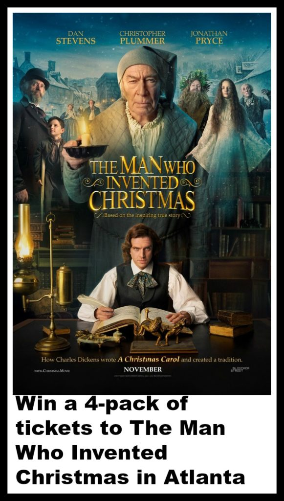 win a 4 pack of tickets to the man who invented christmas in atlanta
