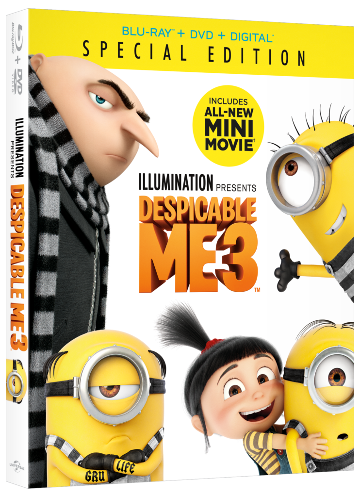Win a copy of Despicable Me 3 on Blu-ray DVD, #Giveaway