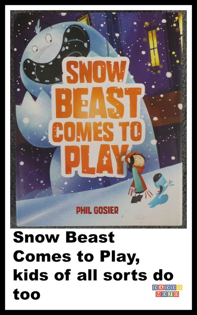 Snow beast, snow beast comes to play, phil gosier, childrens book,