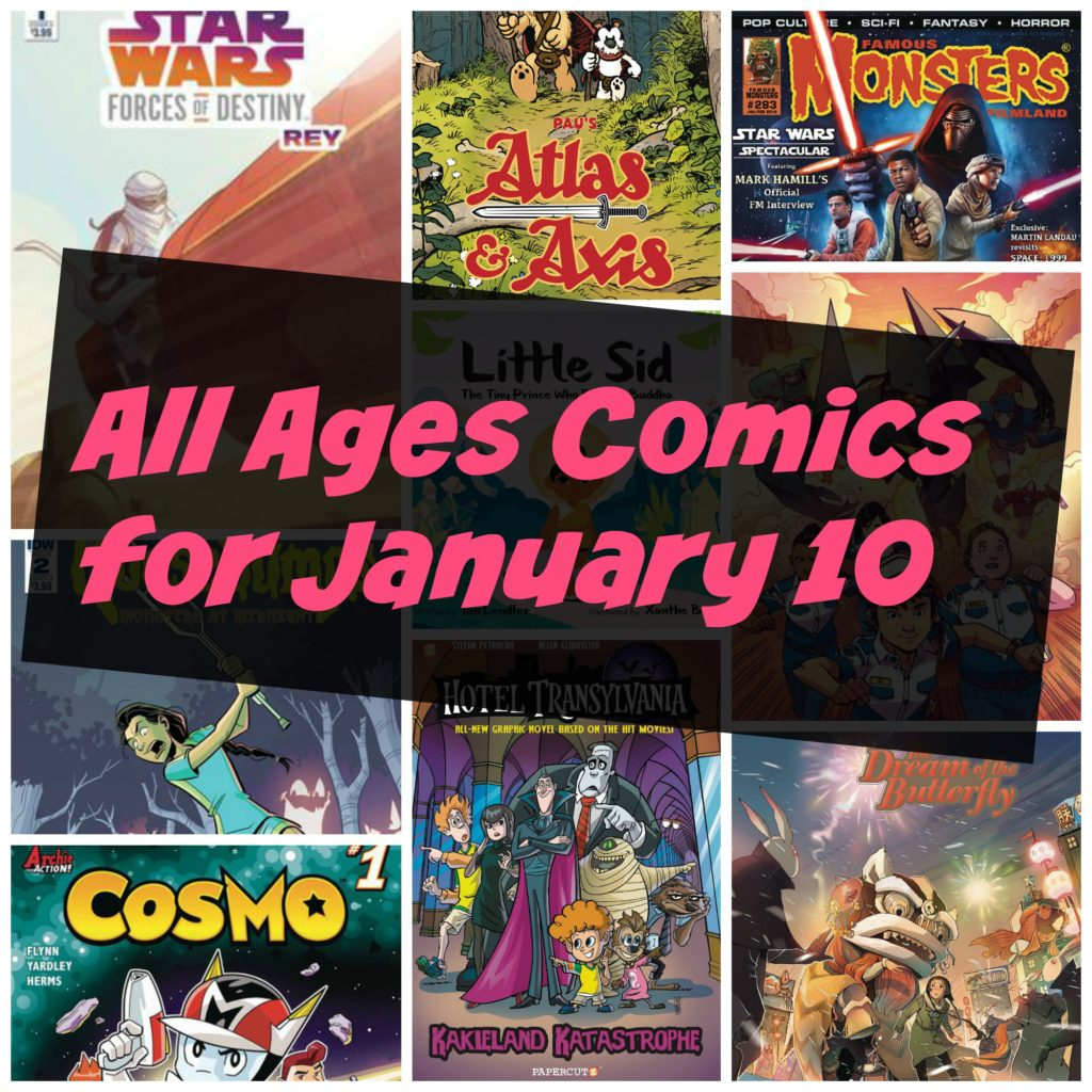 all ages comics, doctor who, star wars, famous monsters,